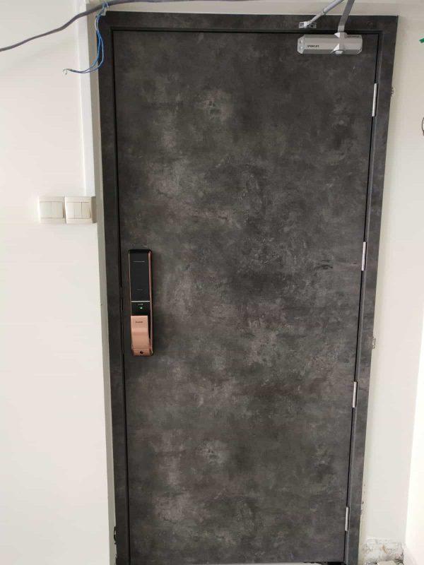 Kaadas-K9-push-pull-mortise-digital-lock-copper-installation