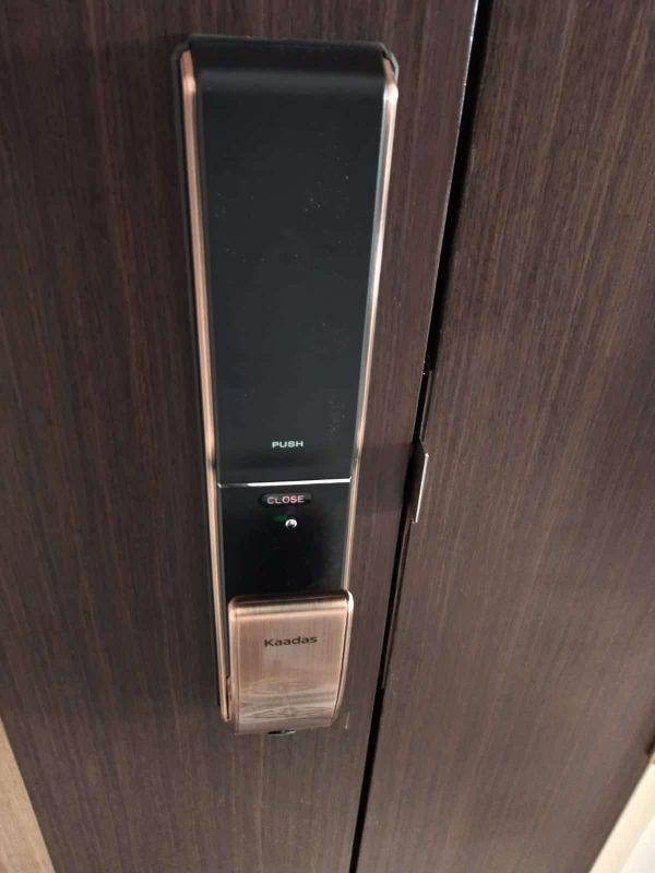 Kaadas-K9-push-pull-mortise-digital lock-copper-installation-1