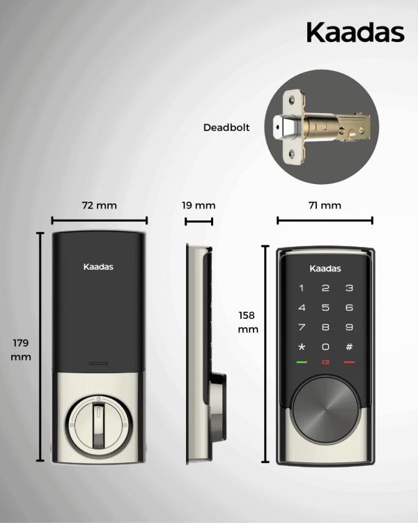 Kaadas-RXC-digital-deadbolt-lock-dimensions